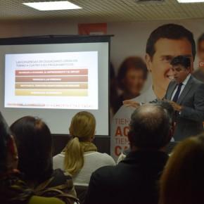 """Miguel Cazorla: """"C's Almería ha priorizado a sus afiliados exponiéndoles los condicionantes presupuestarios porque ellos son un pilar fundamental de este proyecto"""""""