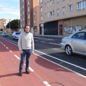 Ciudadanos Almería reclama la instalación de elementos que delimiten el carril bici en la carretera de Sierra Alhamilla