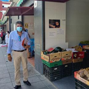 Cs critica que el Ayuntamiento perjudique a los vendedores de Plaza Pavía y dificulte cumplir las distancias de seguridad
