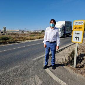Ciudadanos Almería reclama a Diputación aumentar la seguridad vial en la carretera AL-3111 que une San Isidro y Campohermoso
